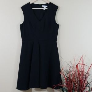 WHBM Black V-Neck Dress With Pockets